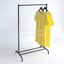 Напольная металлическая стойка для одежды лофт
