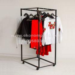 Напольная металлическая стойка для одежды лефт