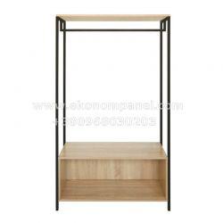 Напольная металлическая стойка для одежды Квадро 5  Платон 9