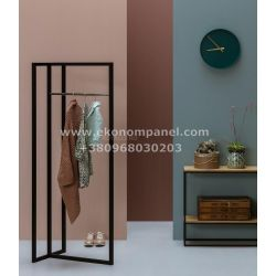 Напольная металлическая стойка для для одежды в стиле Loft R47-2 Платон 72