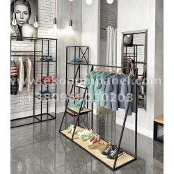 Напольная металлическая стойка для для одежды Рейл ZR1612 Платон 77