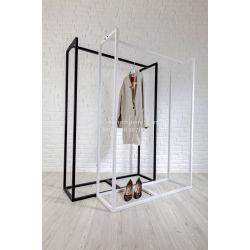 Напольная металлическая стойка для для одежды Платон 80