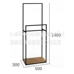 Напольная металлическая стойка для для одежды Платон 81