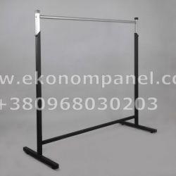 Вешалка - стойка для одежды черная. S - 2