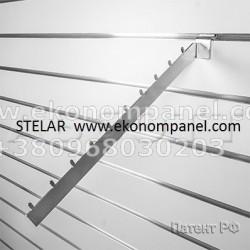 Кронштейн наклонный с 10-ю штырьками цвет серебро и белый