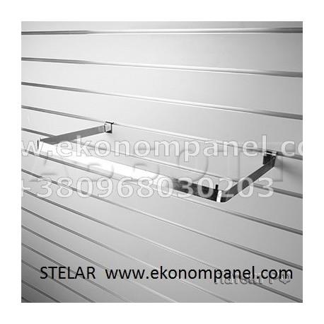 Кронштейны для полки ДСП, усиленный, 300 мм (хром) на зкономпанель, комплект
